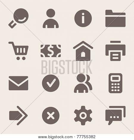 Basic web icons set