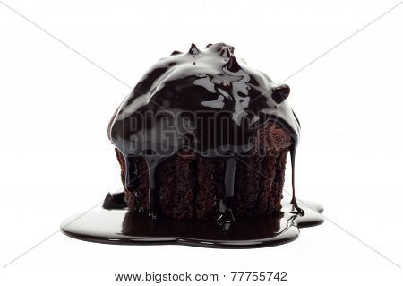 Chocolate Muffin Isolated