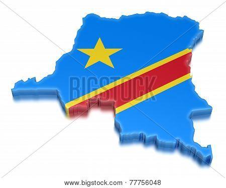 Democratic Republic of the Congo (clipping path included)
