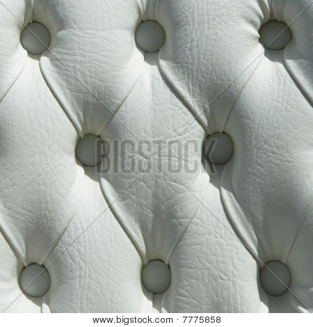 Pattern Of White Leather Upholstery Texture