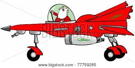 Santa in a starfighter