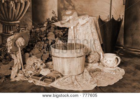 Whitewash Vintage Barrel