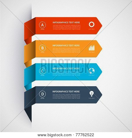 Modern minimalistic infographics banner