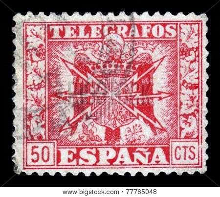 Old Spanish Stamp - Telegrafos