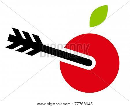 Apple with arrow icon