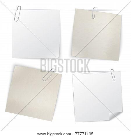 Set of stick notes, vector illustration.