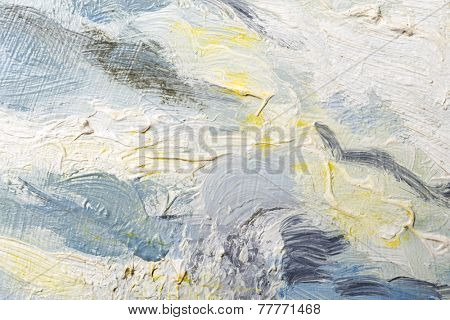 Abstract oil painted texture on canvas