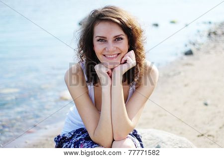 Young woman smiling at camera