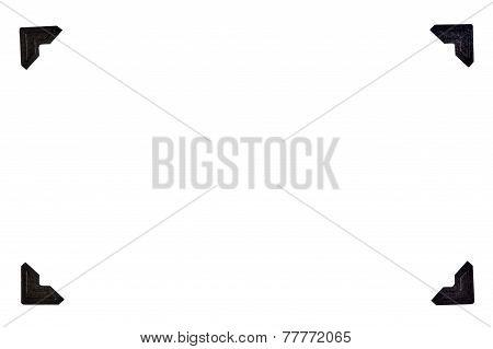 Black Photo Corners In Rectangular Format