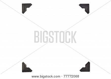 Black Photo Corners In Square Format