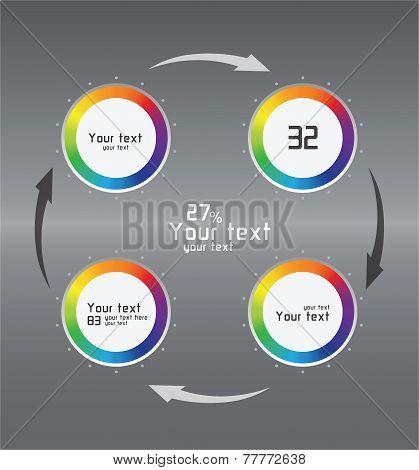 Color Infographics As Circulation