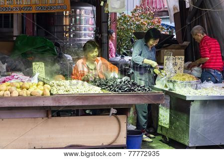 Traditional Market In New Taipei City
