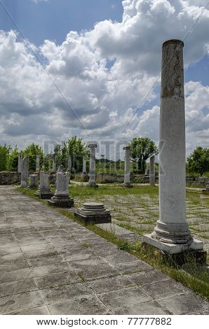 Part of Ancient Roman town peristyle complex Abritus