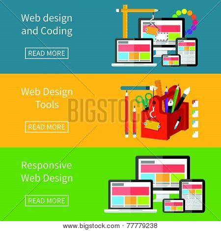Responsive web design, application development and page construction.