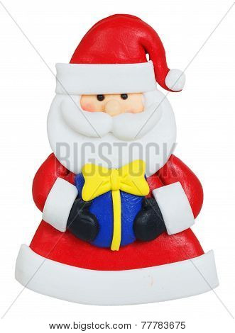 Santa Claus Made Of Polymer Clay