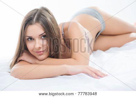 Nice girl in the morning