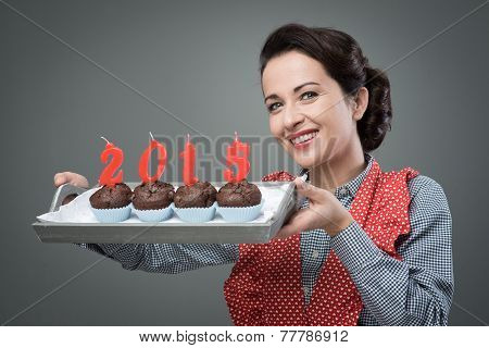 Happy New Year 2015 With Muffins