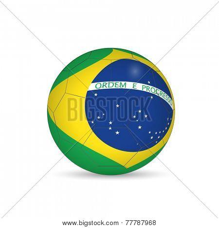 Brazil Soccer Ball Vector Illustration