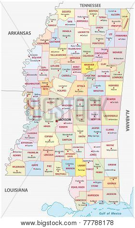 Mississippi Administrative Map