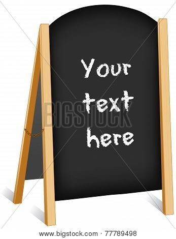 Sign, Chalk Board Folding Easel