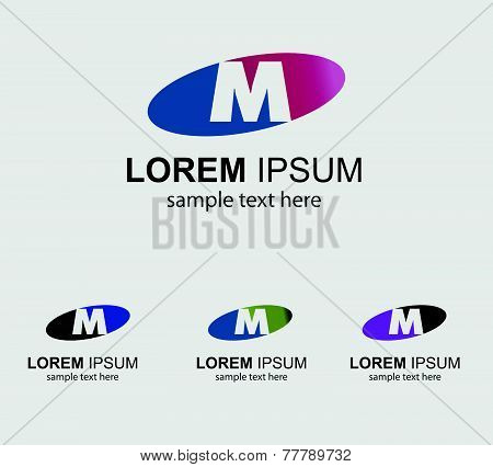 Letter M alphabet logo vector letter M icon