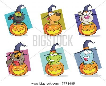 Dibujos animados de Halloween Caractere