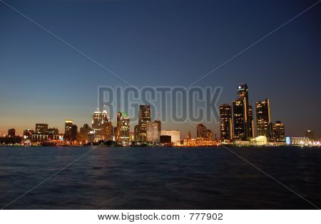 City skyline nightview