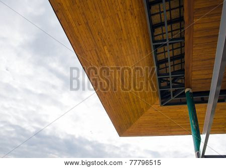 Wooden Eaves Of The House