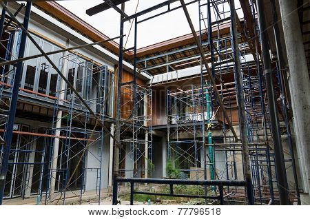 House In Scaffolding