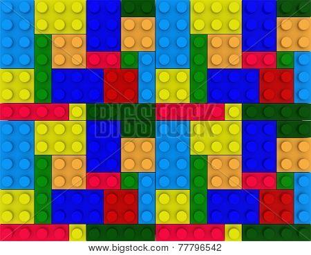 Children Brick Toy Background