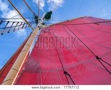 Red Sails And Rigging