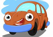picture of bigeye  - illustration of a cute orange car bigeye - JPG