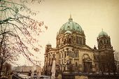 picture of dom  - Vintage Berlin Cathedral Church Dom - JPG