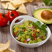 stock photo of avocado  - Guacamole with avocado - JPG