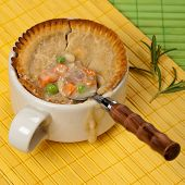 foto of biscuits gravy  - Turkey pot pie with carrot - JPG