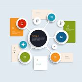image of circle shaped  - Minimal Infographics elements design - JPG
