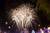 picture of guy fawks  - Colourful fireworks  - JPG