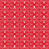 stock photo of x-files  - Christmas patterns on the red background - JPG