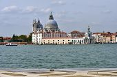 image of world-famous  - View on Santa Maria della Salute church at sunrise - JPG