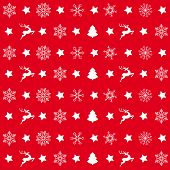 stock photo of x-files  - Christmas white snowflakes on the red background - JPG