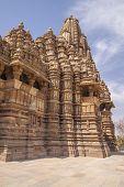 stock photo of khajuraho  - Khajuraho Hindu Temples in India built in 10th - JPG