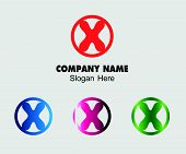 picture of letter x  - Letter X alphabet logo vector letter X icon - JPG