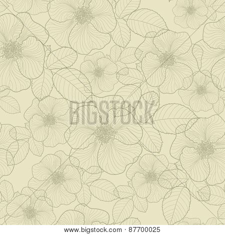 Floral seamless pattern, vector illustration