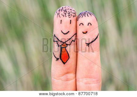 Happy Two Fingers