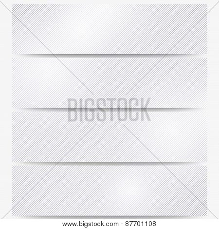 Abstract headers set, diagonal repeat straight stripes texture