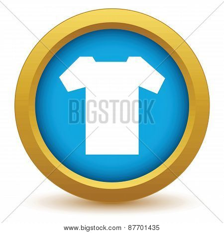Gold tee shirt icon