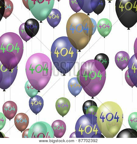 Tile able party air balloons pattern with number 404