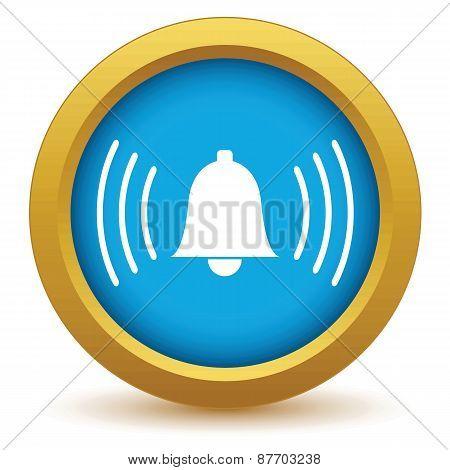Gold alarm clock icon