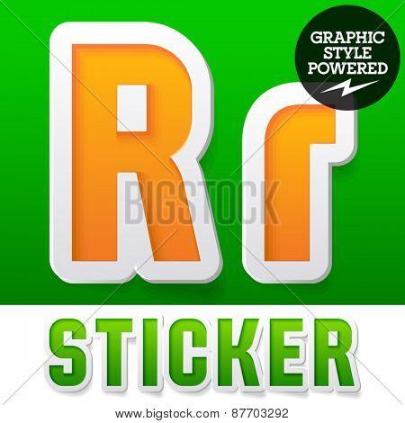 New fresh spring font. Letter R