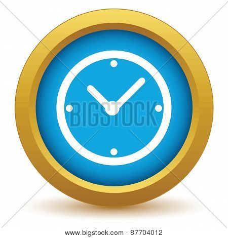 Gold clock icon